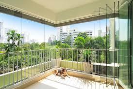 balcony curtain glass curtains frameless sliding glass balcony patio partition