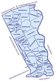 bucks county map bucks county pa map my