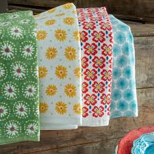 the pioneer dish towels coordinates with dinnerware