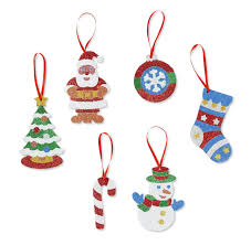 christmas ornaments with initials doug mess free glitter christmas ornaments