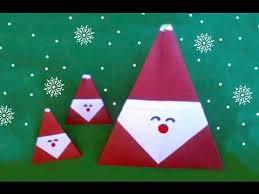 How To Make A Origami Santa - easy origami santa claus diff 3 10 折り紙