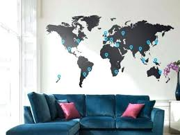 world map with country names contemporary wall decal sticker world map wall decal sticker home decor 2 world map vinyl wall
