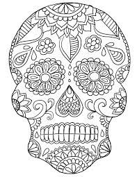 day of the dead skull coloring sheets day of the dead skull