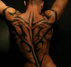 back tribal for ink and jewelry