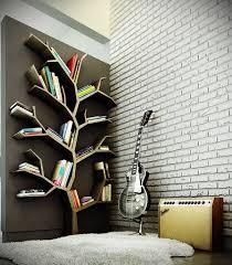 50 best bookshelf ideas and decor for 2017 1 geometric tree