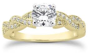 engagement rings prices 1 carat twist engagement ring 14k yellow gold