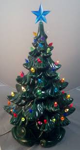 old fashioned ceramic christmas tree cheap vintage lighted