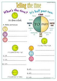 62 free esl telling the time worksheets