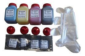 amazon com tm toner 4 color toner refill kit chips for ricoh