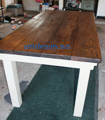 stained table top painted legs diy farmhouse table with provincial stained top and cece caldwell