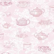 Shabby Chic Pink Wallpaper by Pink M0840 Teacups Teapots Shabby Chic Vintage Country Coloroll