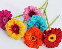 felt flowers felt flowers etsy