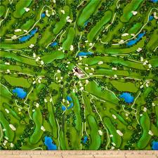 hole in one golf course green discount designer fabric fabric com