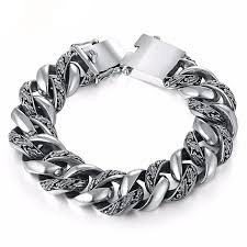 man sterling bracelet images Genuine thai sterling silver men 39 s bracelets handmade daania 39 s jpg