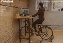 Diy Bike Desk Kickstand Bike Desk Exercise Health Pinterest Desks