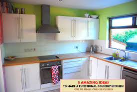 kitchen make ideas 5 small kitchen ideas to make a country kitchen out of corner cubbies