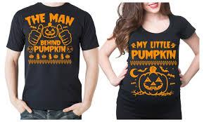 halloween couple maternity shirts little pumpkin pregnancy tee