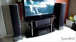 audiophile home theater speakers polk audio rti 5 1 home theater setup demo youtube