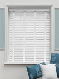 Wide Slat Venetian Blinds With Tapes Satin Pure White U0026 White Faux Wood Blind 50mm Slat Pure White