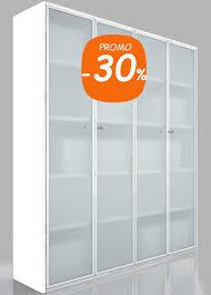 armoire de bureaux armoire de bureau blanche vitrée design bibliothèque contemporaine
