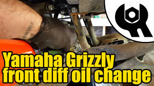 1808 yamaha grizzly 450 front diff oil change youtube