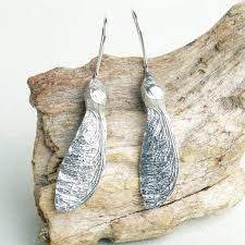earrings uk sycamore key drop earrings uk made pewter and silver