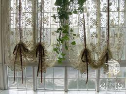 French Style Kitchen Curtains by French Country Window Treatments French Country Hand Crochet