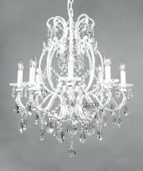 White Chandeliers White Wrought Iron Chandeliers White Wrought Iron Floral