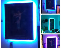 picture frame light battery operated picture frames led etsy
