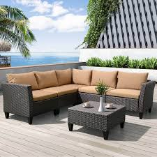 All Weather Wicker Patio Furniture Clearance by 6 Piece Outdoor Garden Patio Furniture Conversation Sets Clearance