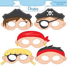 pirate mask paper masks pirate party ideas party paper