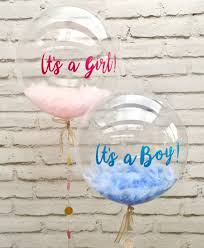 balloons in a box delivery baby shower balloons blue feather balloon it s a boy and pink