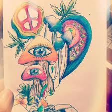 just a bit trippy trippyart weed weedstagram creative hippy