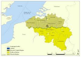 Belgium Language Map Belgium Regions Map New Zone
