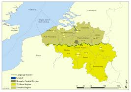 Brussels Europe Map by Belgium Regions Brussels Region Flemish Regions Walloon Regions