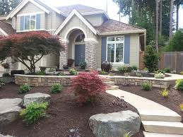 landscaping ideas front yard two story house new landscape design