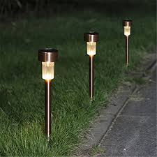 winchance solar led pathway lights stainless steel solar stake