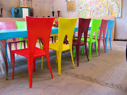 Mexican Chairs Furniture Terrific Dinning Tables Jojo Colorful Painted Dining