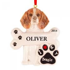 beagle ornament invitation template