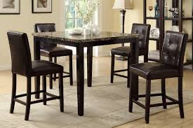 counter height dining room sets marble finish counter height dining table 4 chairs f2339 f1144