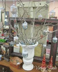 vintage finds diy branch ornament tree