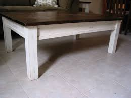 stained table top painted legs furniture unique rustic coffee table for elegant living room