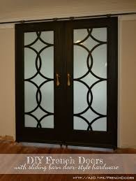 How To Build Barn Doors Sliding My Finished Sliding Barn Door Style French Doors Diy Barn Door