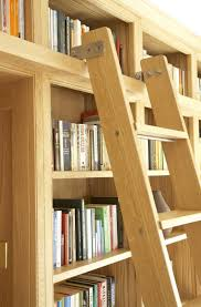 furniture awesome unfinished wood library bookcase and ladder