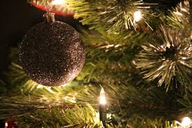 free stock photo of close up of christmas tree with silver ball