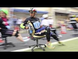 Racing Office Chairs Office Chair Racing In The Japan News Youtube