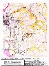 san jose state map mission peak landslide fremont ca j david rogers