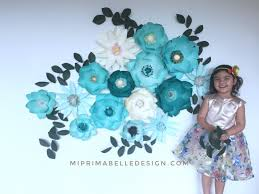 paper flowers for home or wedding décor baby nursery room