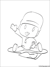pocoyo draws coloring coloring pages