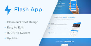 free download template flash flash app landing page html5 template download zip template free